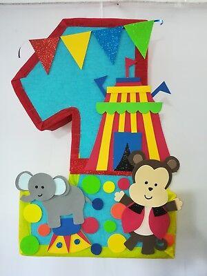 Circus themed pinata, circus birthday party, baby animals, circus party - Carnival Themed Pinata
