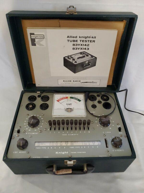 Vintage Allied Knight-Kit Tube Tester Model 83YX142-83YX143 & Manual