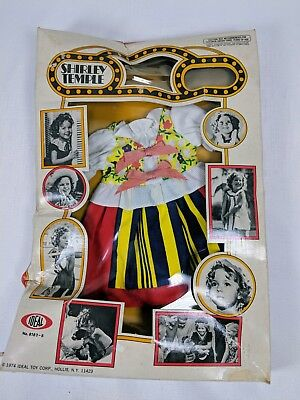 Shirley Temple Costume (1974 Ideal Shirley Temple Doll Movie Costume 8182-8 Sealed in)
