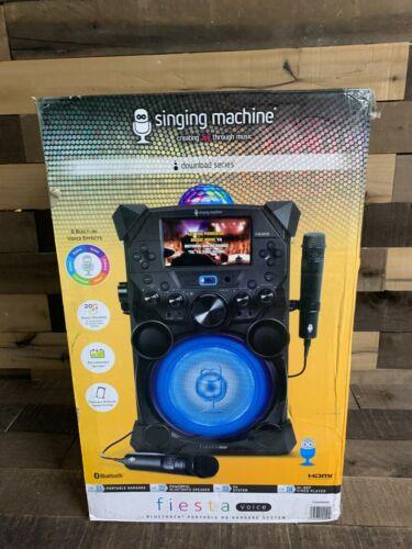 Singing Machine Fiesta Voice Bluetooth Portable HD Karaoke System NEW