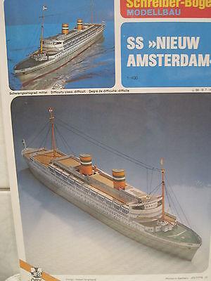 Nieuw Amsterdam Passagierschiff Schiff Kartonbausatz NEU Schreiber- Bastelbogen