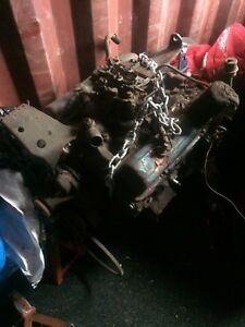 350 Chevy motor and tranny