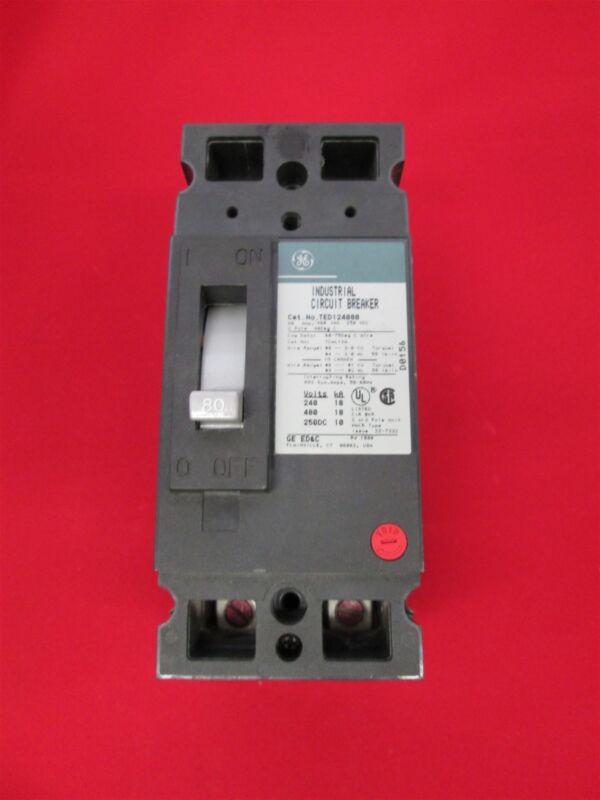 GE General Electric  TED124080 Circuit Breaker