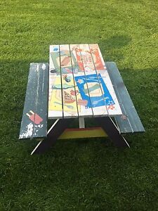 Kid size picnic table