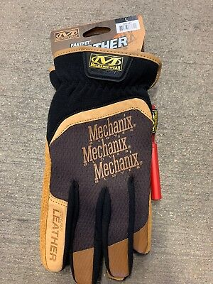 Mechanix Wear Large Mens Fastfit Leather Work Gloves Brand New