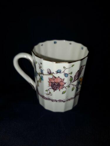 Royal Worcester Kashmir Ribbed Demitasse Flat Cup England Vintage - $15.99