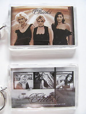 DIXIE CHICKS Double Sided Zipper Lic. MUSIC KEY CHAIN Acrylic Keychain