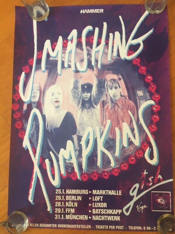 Smashing Pumpkins Original Gish Tour Poster 1992 Billy Corgan, Germany Tour