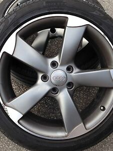 """Audi 21""""rims and tires"""