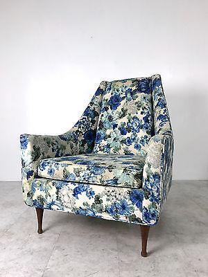 Unique Vintage Mid Century Modern Flexsteel Lounge Chair Walnut Legs McCobb Era