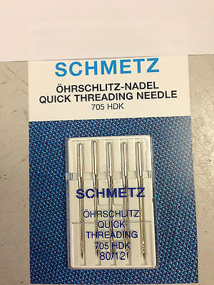Schmetz Quick Threading Sewing Machine Needles Size 80/12