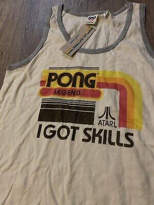 NEW Atari Pong Legend Tank Top ladies womens M medium game NWT shirt Junk Food