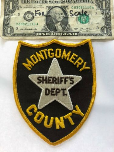 Montgomery County Sheriff Mississippi police Patch un-sewn (Old hard to find)