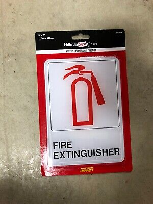 Fire Extinguisher Sign Plastic 5 X 7