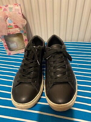 Montague Burton Canvas Trainers Shoes - Men's Size 9 Black Used