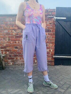 Vintage 90s Versace Jeans Bootleg Trousers Lilac Joggers Combat Utility Pants