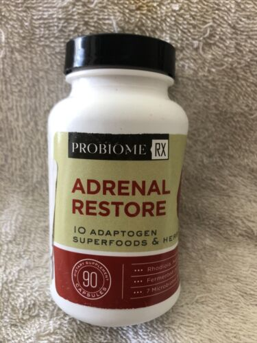 ProBiome Rx Adrenal Restore, 90 Capsules Open Bottle No Seal