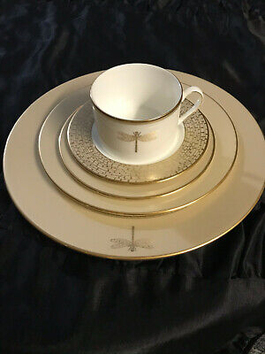 Set of 5 Kate Spade June Lane Gold 5 Piece Place Setting - Dinner, Salad Plates+