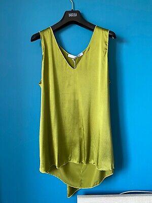 Jucca Loose Fit Green Silk Sleeveless Top Uk10
