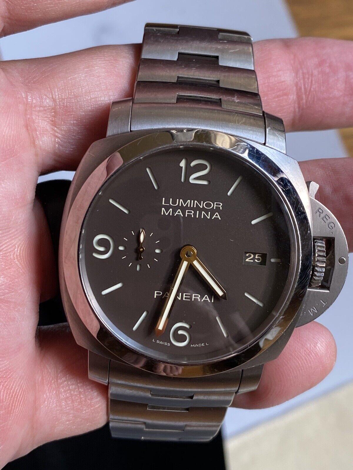Panerai Luminor 1950 3-Days PAM 352 Titanium Original Owner! - watch picture 1
