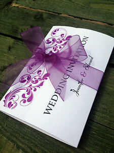 Handmade Personalised Wedding Invitations A6 Gatefold | eBay