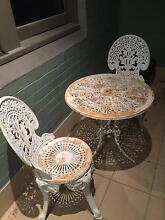 OUT DOOR ANTIQUE TABLE AND TWO CHAIRS Brighton-le-sands Rockdale Area Preview