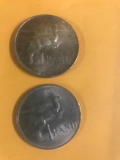 South Africa one R1 Rand coins 1983 and rare  silver 1966