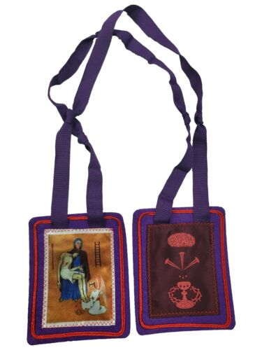 Purple Scapular of benediction and protection (Protection in END OF TIMES)