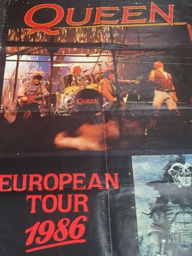 1984 Queen European Tour Poster Rare