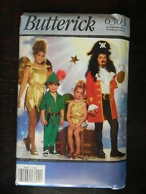 Butterick 6303 Peter Pan Tinker Bell Captain Hook Costumes UNCUT 4-14 Halloween](Peter Pan Teen Costume)