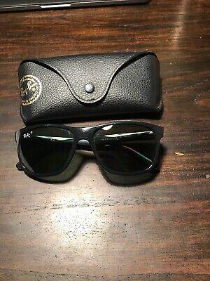 Ray Ban Sonnenbrille polarisiert, mattiertes Gestell - Schwarz, Neupreis: 140€