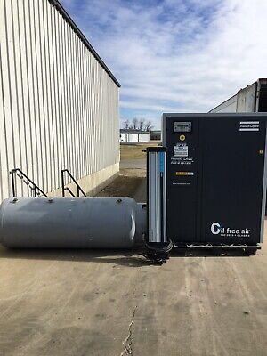 Atlas Copco Air Compressor Sf15 Tank And Air Dryer