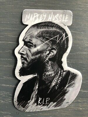Country Home Decorating Catalogs Nipsey Hussle Vinyl Sticker Portrait B&W Very High Quality HIP HOP West Beach Motif Home Decor