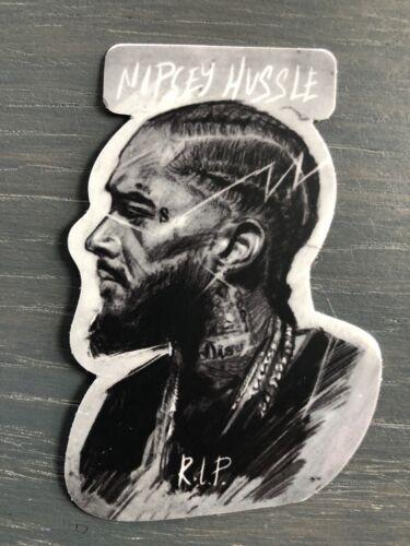 Home Decoration - Nipsey Hussle Vinyl Sticker Portrait Art BW Very High Quality HIP HOP West