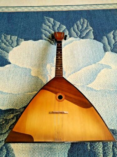 Vintage Balalaika Prima  Original USSR Russian Folk Musical Instrument 6 strings