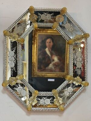 19thcentury octagonal Venetian glass mirror antique mirror