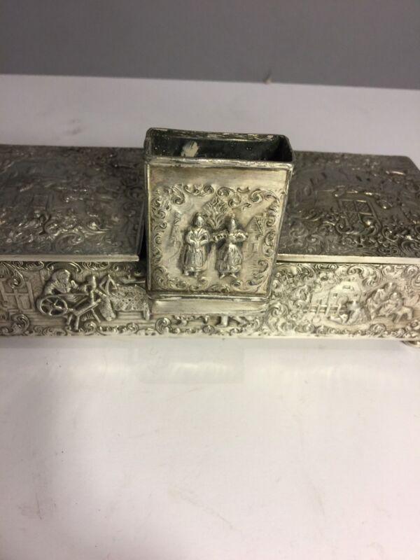 Unique  Repousse Silver plated Cigar box Barbour SP Co International S Co%40 $$