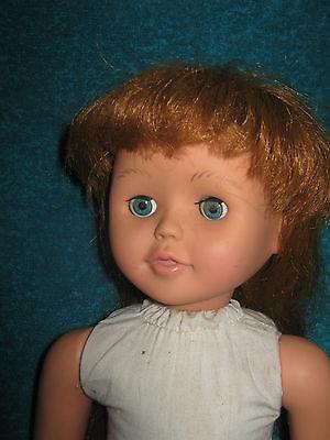 "19"" Girl Doll-Red Hair-Vinyl & Cloth"