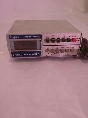 Simpson 463 Digital Multimeter For Part Or Repair