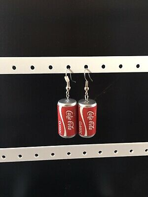 Vintage Retro Cutie Coca Cola Style Drink Can Novelty Earrings