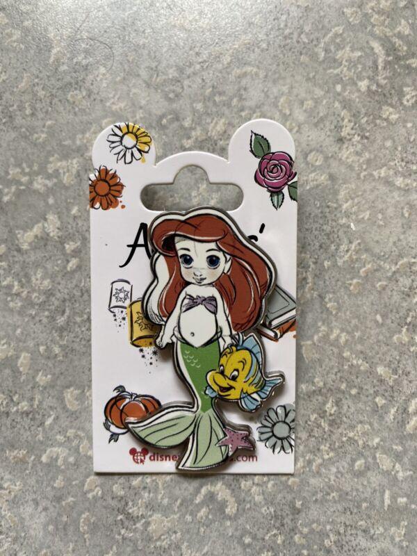 Disney DLP DLRP Disneyland Paris Little Mermaid Flounder Ariel Animator Doll Pin