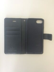 iPhone 8 Navy Blue Leather Wallet Case