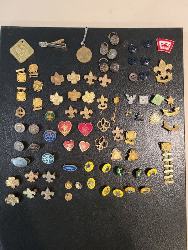 Huge Lot of Vintage Boy Scout BSA Pins, Medals and more