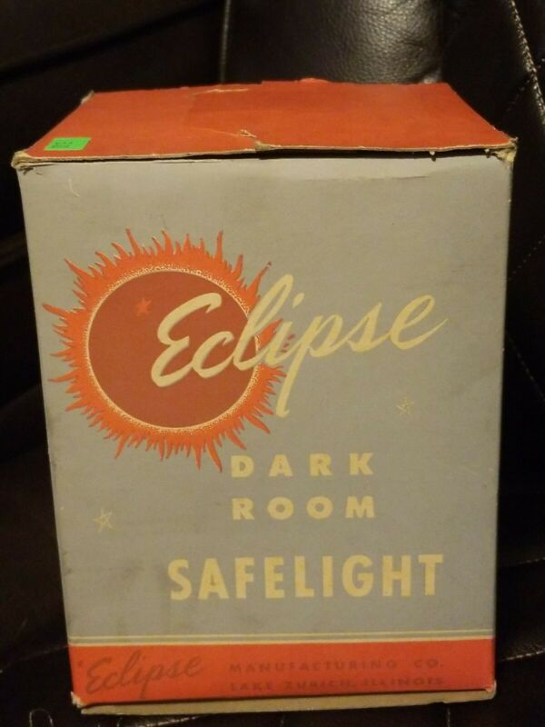 VINTAGE ECLIPSE DARK ROOM SAFELIGHT amber red lenses
