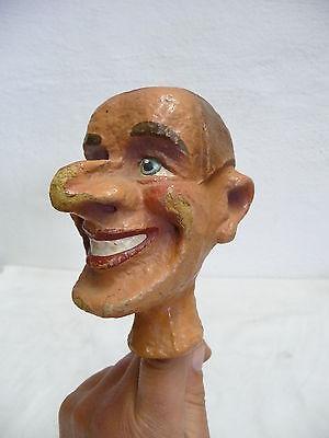 Große Kasperpuppe Handpuppe Marionette Puppentheater Pappmaschee Kopf uralt  (4)