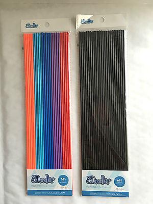 3Doodler ABS: Bohemian Blend & Black Belt Black  25pcs x 2
