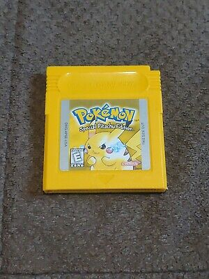 Pokemon Yellow Special Pikachu Edition Version for Nintendo GameBoy Works GB GBC