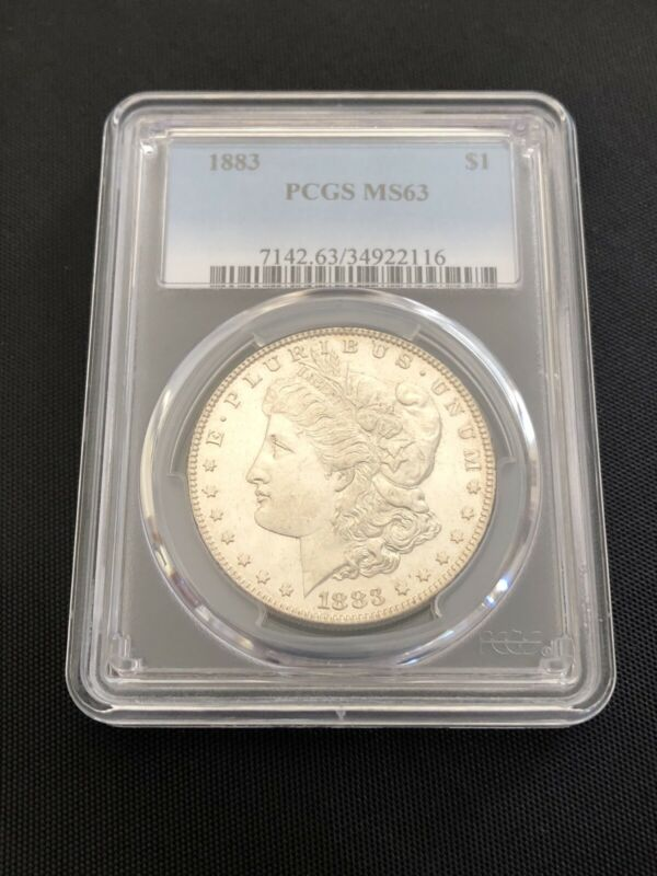 1883 P PCGS MS 63 Morgan Silver Dollar Coin Bullion $1