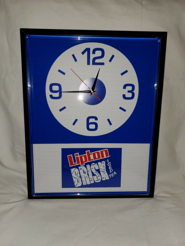 Vintage Lipton Brisk Iced Tea Clock / Sign. Early to mid 90