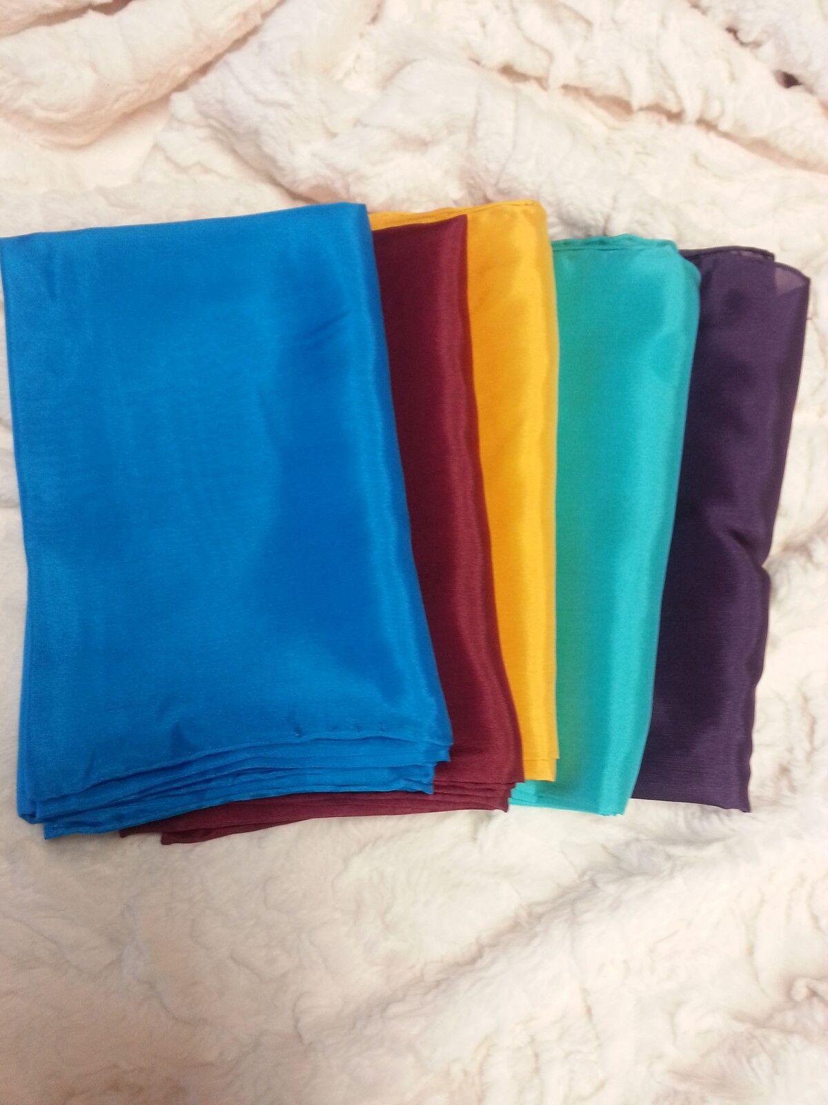 "Wyoming Traders Unisex Silk Scarf Wild Rag 34.5"" Sq  22  Vibrant Colors  Western"